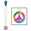 BEADS PEACE SIGN MEDALLION (12/CASE) PARTY SUPPLIES