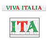 METALLIC VIVA ITALIA BANNER (6/CS) PARTY SUPPLIES