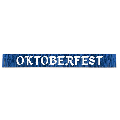 Click for larger picture of METALLIC OKTOBERFEST BANNER PARTY SUPPLIES
