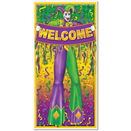 Click for larger picture of MARDI GRAS DOOR COVER PARTY SUPPLIES
