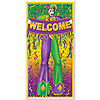 MARDI GRAS DOOR COVER (12/CS) PARTY SUPPLIES
