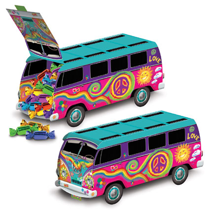1960s Theme Decorations Party Supplies 60s Bus Centerpiece