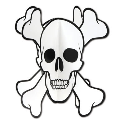 Click for larger picture of DISCONTINUED SKULL & CROSSBONES CENTRPCE PARTY SUPPLIES