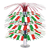 ITALIAN FLAG CASCADE CENTERPIECE (6/CS) PARTY SUPPLIES