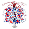 BRITISH FLAG CASCADE CENTERPIECE (6/CS) PARTY SUPPLIES