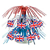 BRITISH FLAG MINI CENTERPIECE (12/CS) PARTY SUPPLIES