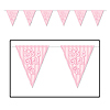 IT'S A GIRL PENNANT BANNER PARTY SUPPLIES