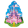 PRINCESS CASTLE WALL PLAQUE (12/CS) PARTY SUPPLIES