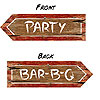REDNECK BBQ PARTY SIGN (24/CS) PARTY SUPPLIES