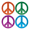 FOIL PEACE SIGN CUTOUTS PARTY SUPPLIES