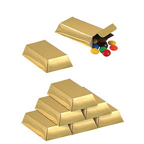 Click for larger picture of GOLD BAR FAVOR BOXES PARTY SUPPLIES