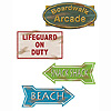 BEACH SIGN CUTOUTS (48/CS) PARTY SUPPLIES