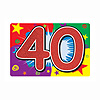 GLITTERED 40 SIGN (12/CS) PARTY SUPPLIES