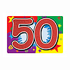 GLITTERED 50 SIGN (12/CS) PARTY SUPPLIES