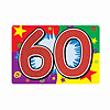 GLITTERED 60 SIGN (12/CS) PARTY SUPPLIES