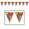 LUAU PENNANT BANNER (12/CASE) PARTY SUPPLIES