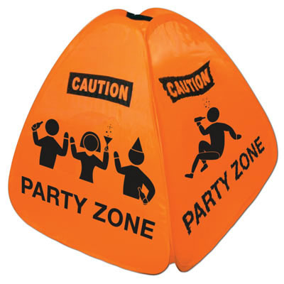 Click for larger picture of PARTY ZONE FLOOR SIGN PARTY SUPPLIES