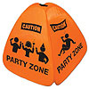 PARTY ZONE FLOOR SIGN PARTY SUPPLIES