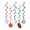SPORTS WHIRLS (30/CASE) PARTY SUPPLIES