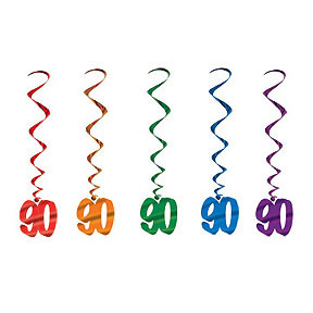 Click for larger picture of 90 WHIRLS ASSORTED COLORS (30/CS) PARTY SUPPLIES