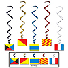 NAUTICAL FLAG WHIRLS PARTY SUPPLIES