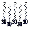 30 WHIRLS - BLACK PARTY SUPPLIES
