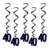 40 WHIRLS - BLACK PARTY SUPPLIES