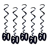 60 WHIRLS - BLACK PARTY SUPPLIES