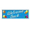 WELCOME BACK SIGN BANNER (12/CASE) PARTY SUPPLIES