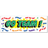 GO TEAM SIGN BANNER (12/CS) PARTY SUPPLIES