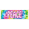 PEACE SIGN BANNER (12/CASE) PARTY SUPPLIES