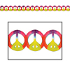PEACE SIGN TIE DYE GARLAND PARTY SUPPLIES