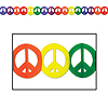 PEACE SIGN GARLAND (12/CS) PARTY SUPPLIES
