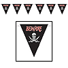 BEWARE OF PIRATE GIANT PENNANT (12/CASE) PARTY SUPPLIES
