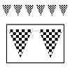 CHECKERED GIANT PENNANT BANNER (12/CS) PARTY SUPPLIES