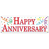 HAPPY ANNIVERSARY SIGN BANNER (12/CS) PARTY SUPPLIES
