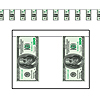 $100 BILL PENNANT BANNER PARTY SUPPLIES