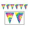 TIE-DYED PENNANT BANNER PARTY SUPPLIES