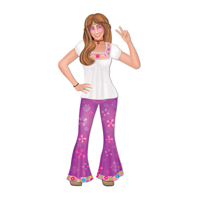 Click for larger picture of JOINTED FEMALE HIPPIE (12/CASE) PARTY SUPPLIES