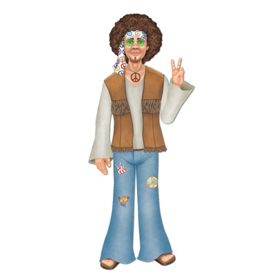 Click for larger picture of JOINTED MALE HIPPIE (12/CASE) PARTY SUPPLIES
