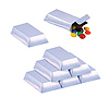 DISCONTINUED SILVER BAR FAVOR BOXES PARTY SUPPLIES