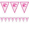 DISCONTINUED PINK RIBBON PENNANT BANNER PARTY SUPPLIES