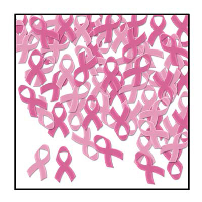 Click for larger picture of PINK RIBBONS CONFETTI PARTY SUPPLIES