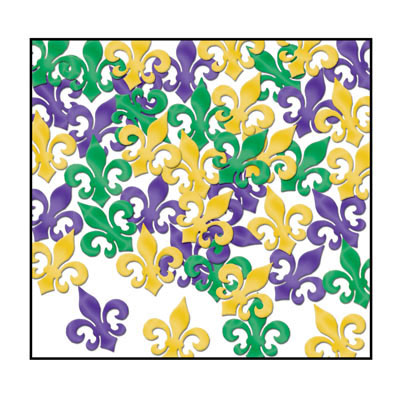 Click for larger picture of FLEUR DE LIS CONFETTI (12/CS) PARTY SUPPLIES