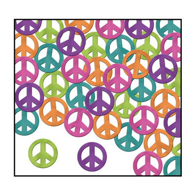 Click for larger picture of PEACE SIGNS CONFETTI (1 OZ/PKG) PARTY SUPPLIES