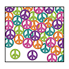 FANCI-FETTI PEACE SIGNS (12/CASE) PARTY SUPPLIES