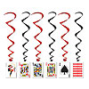 PLAYING CARD WHIRLS (30/CS) PARTY SUPPLIES