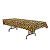 LEOPARD PRINT TABLECOVER (12/CS) PARTY SUPPLIES