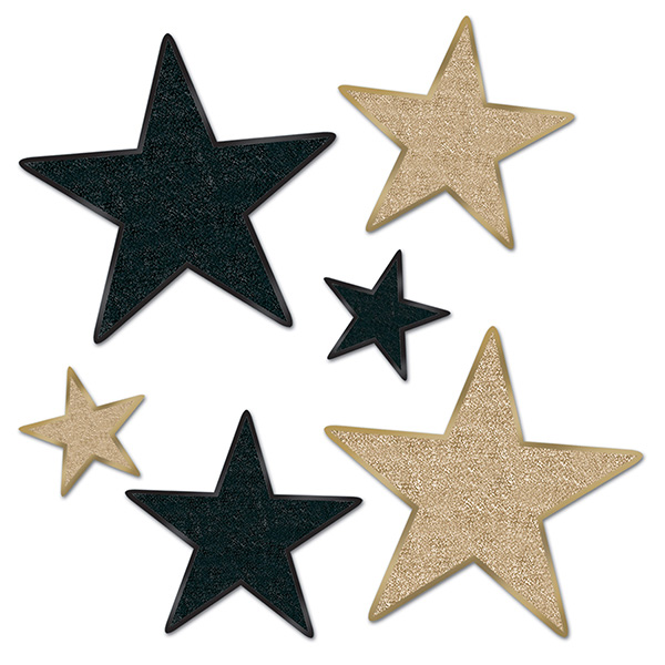 bulk miscellaneous star decorations party supplies blackgold
