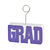GRAD PHOTO/BALLOON HOLDER PURPLE PARTY SUPPLIES